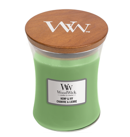 "WoodWick Kaars WoodWick ""Hemp & Ivy"" medium - WoodWick"