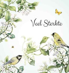 Wenskaart Veel Sterkte -  Janneke Brinkman