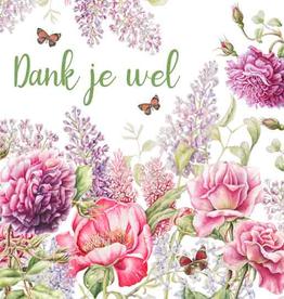 Wenskaart Dank je wel -  Janneke Brinkman
