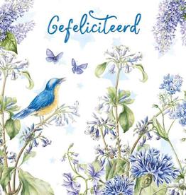 Wenskaart Gefeliciteerd -  Janneke Brinkman