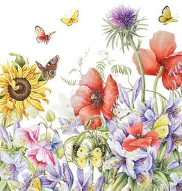 Wenskaart (Bloemen en Vlinders) -  Janneke Brinkman