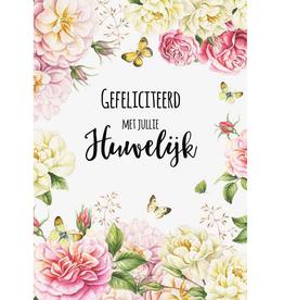Wenskaart  Gefeliciteerd met Jullie Huwelijk -  Janneke Brinkman