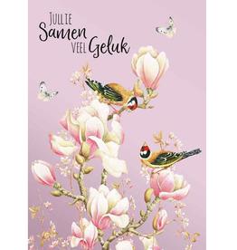 Wenskaart  Jullie samen Veel geluk -  Janneke Brinkman