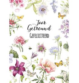 Wenskaart  ...Jaar Getrouwd Gefeliciteerd -  Janneke Brinkman