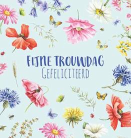 Wenskaart Fijne Trouwdag Gefeliciteerd -  Janneke Brinkman