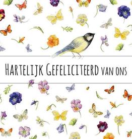 Wenskaart Hartelijk Gefeliciteerd van Ons -  Janneke Brinkman