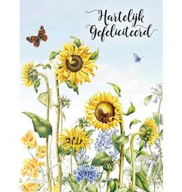 Wenskaart Groot Hartelijk Gefeliciteerd -  Janneke Brinkman