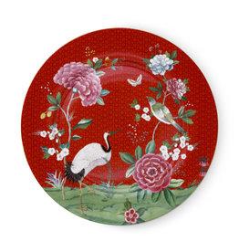 Pip Studio Onderbord Blushing Birds rood 32cm - Pip Studio