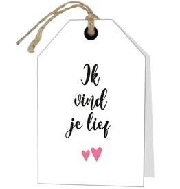Wenskaart Ik vind je Lief - Rebel30