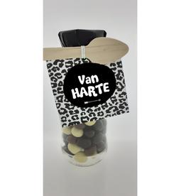 """Flesje met Chocolade """"Van Harte"""""""