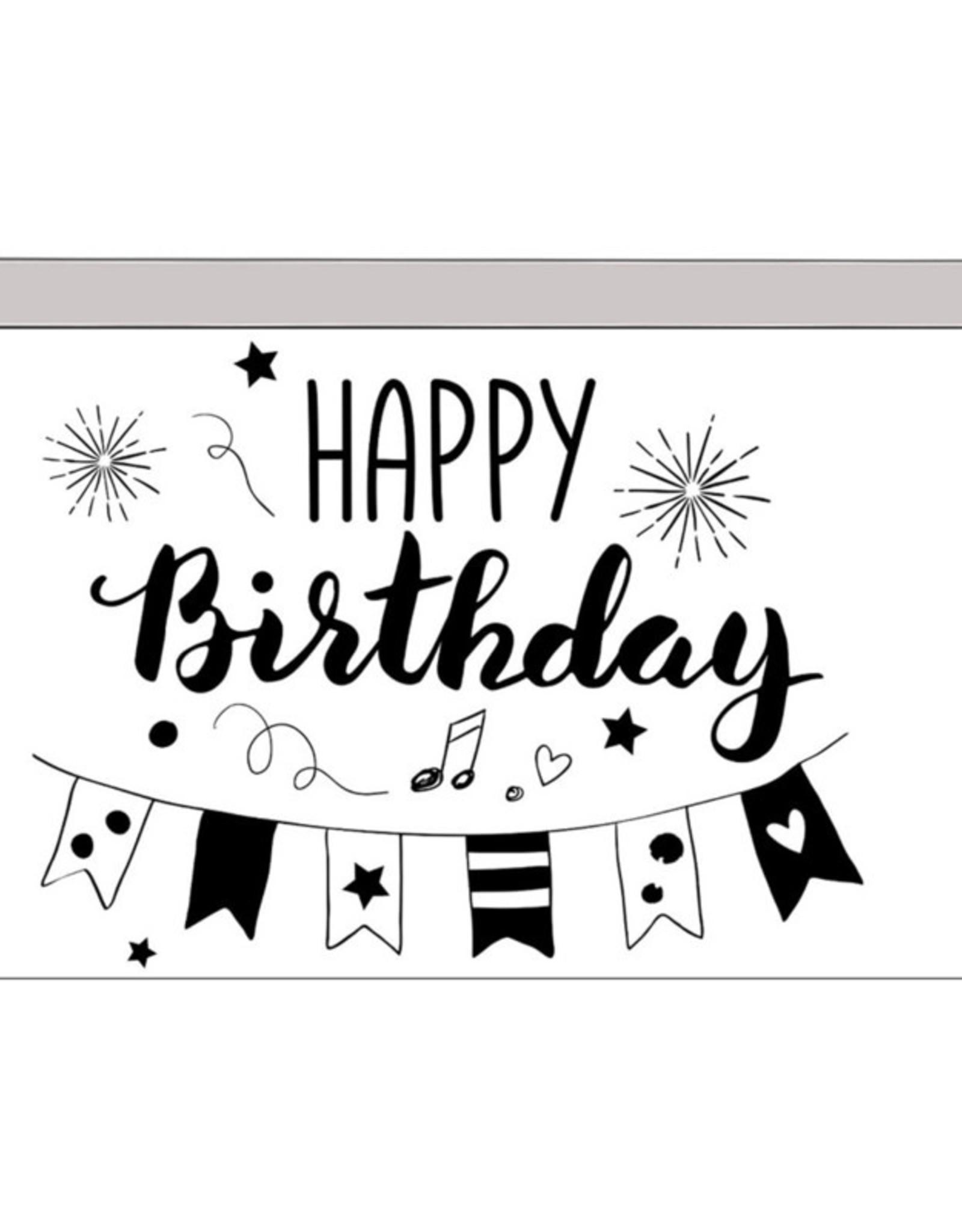Cadeaudoosje Happy Birthday met Verjaardagskaarsjes
