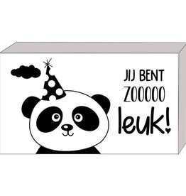 Cadeaudoosje Jij bent zo Leuk met Pandabeertje
