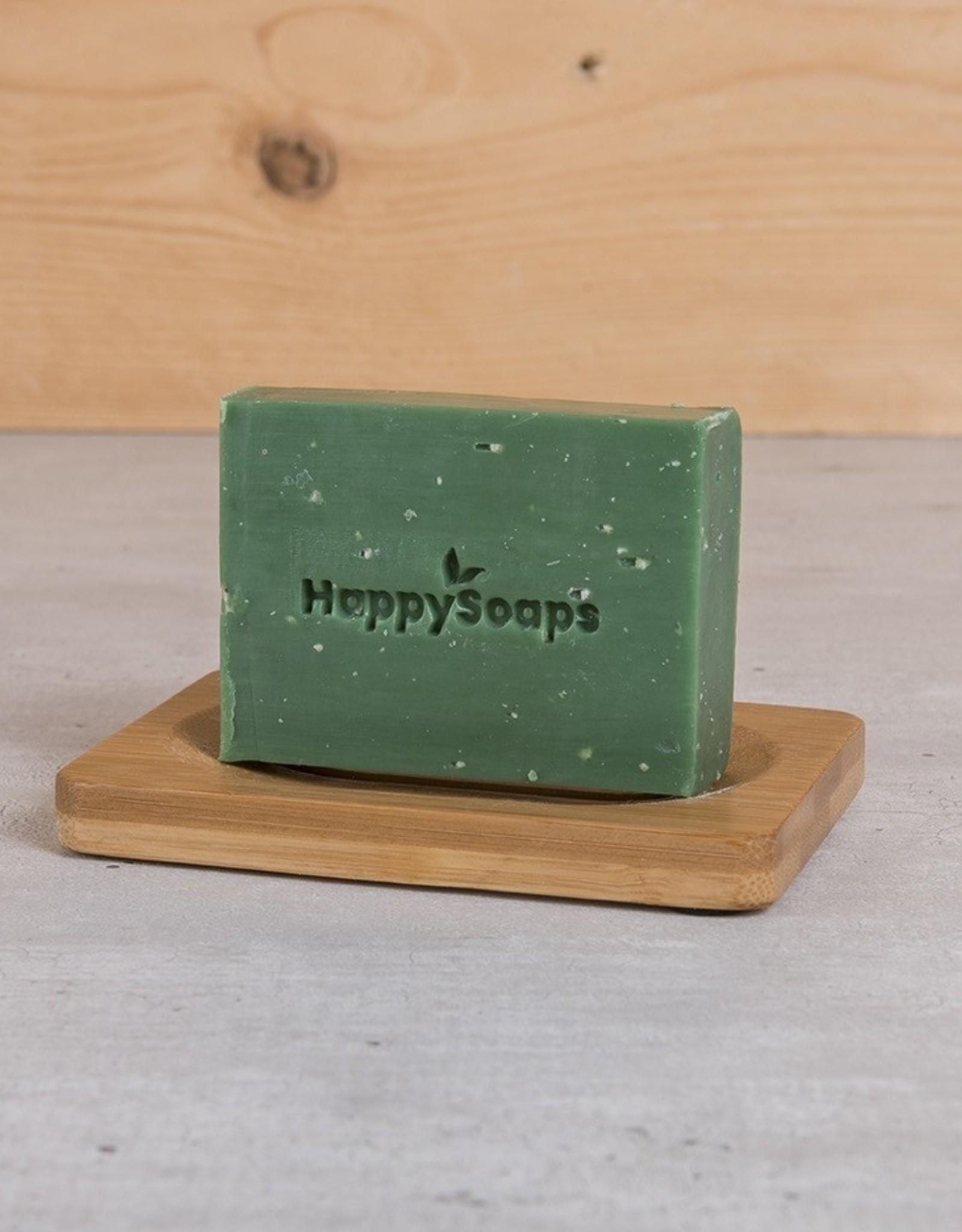 HappySoaps Happy Body Bar Citroen en Basilicum 100gram - HappySoaps