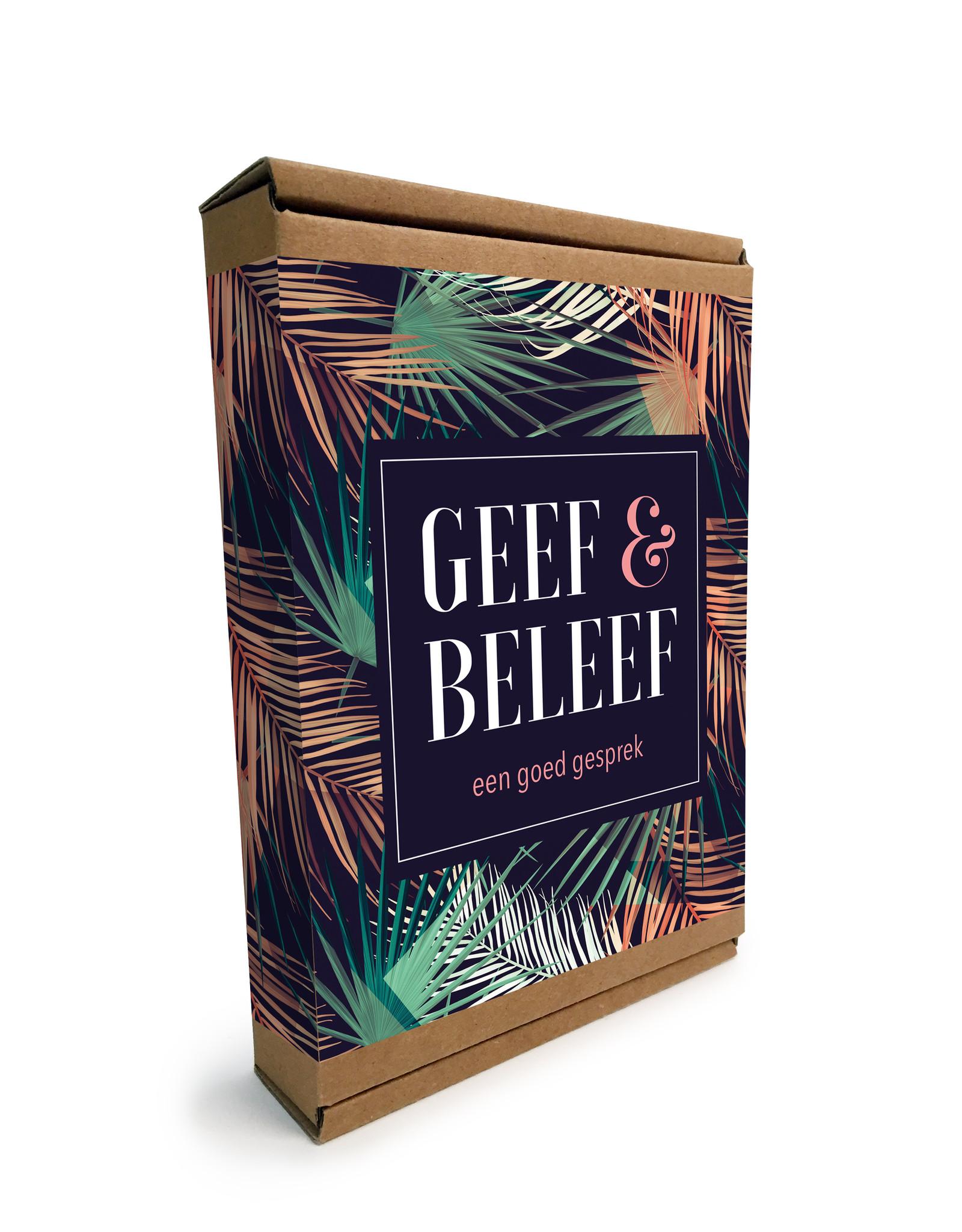 """Geef & Beleef doosje Een goed Gesprek """"Palmbladeren"""""""