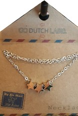 Go Dutch Label Ketting N7060-1 Sterren Zilver / Go Dutch Label.