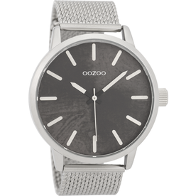 OOZOO Horloge C9655 lichtgrijs 45mm - OOZOO