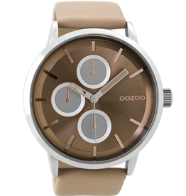 OOZOO Horloge C9425 lichtroze 48mm - OOZOO