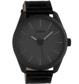 OOZOO Horloge C10324 d.grijs / zwart 48mm - OOZOO