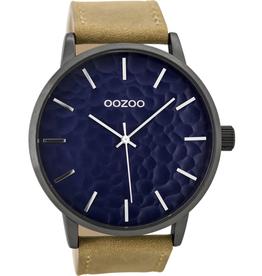 OOZOO Horloge C9442 bruin / d.blauw 48mm - OOZOO