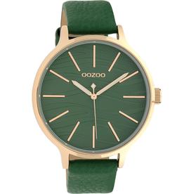 OOZOO Horloge C10123 groen / rosé 45mm - OOZOO