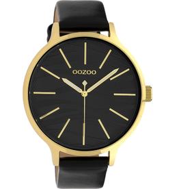 OOZOO Horloge C10124 zwart goud 45mm - OOZOO