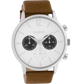 OOZOO Horloge C10355 bruin wit 48mm - OOZOO