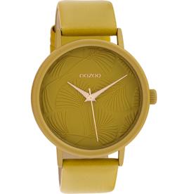 OOZOO Horloge C10391 mosterd geel 42mm - OOZOO