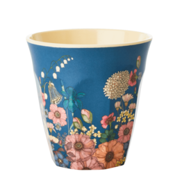 Rice Beker Melamine met Bloemen Collage print - Rice