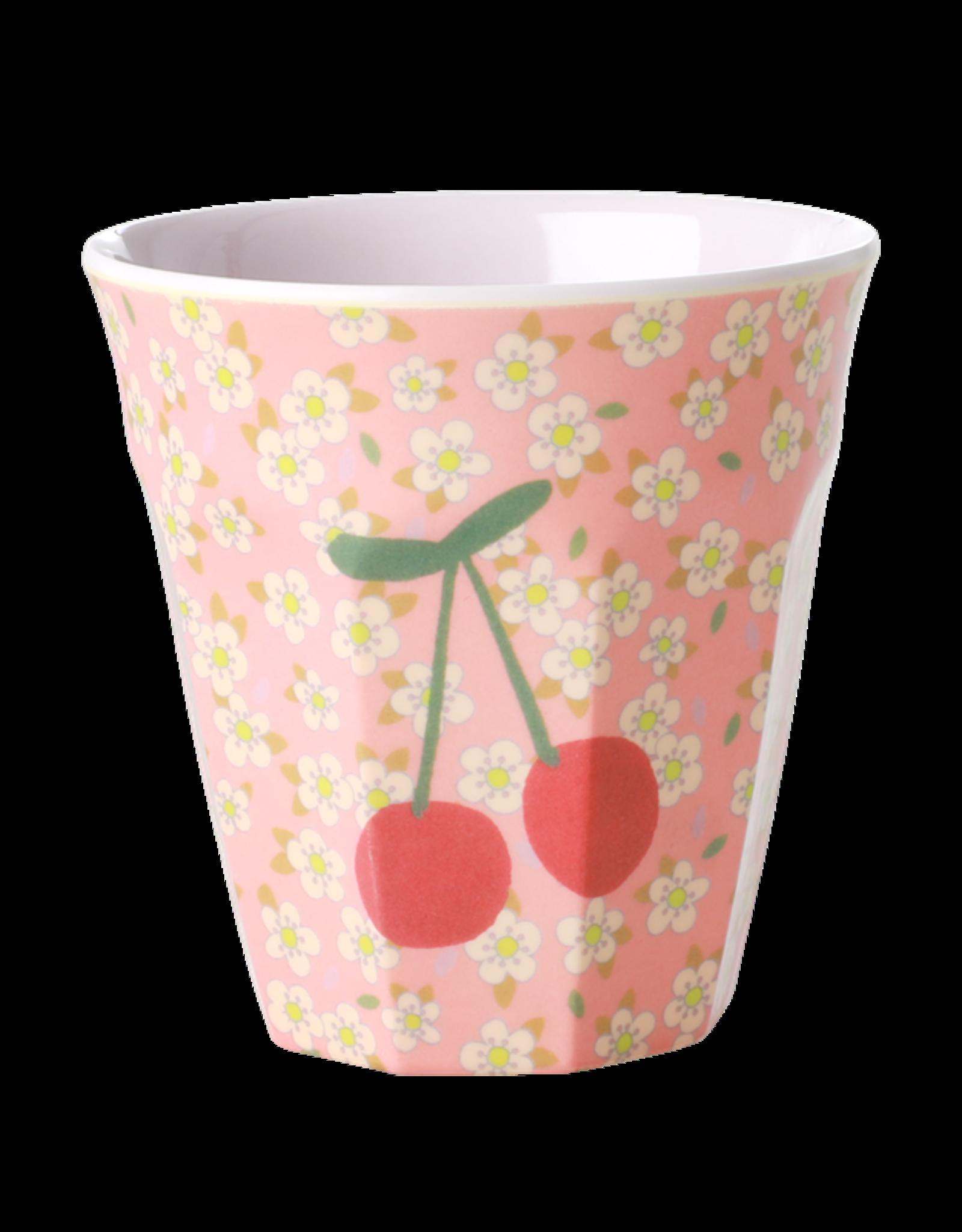 Rice Beker Melamine met kleine Bloemen en Kers print - Rice