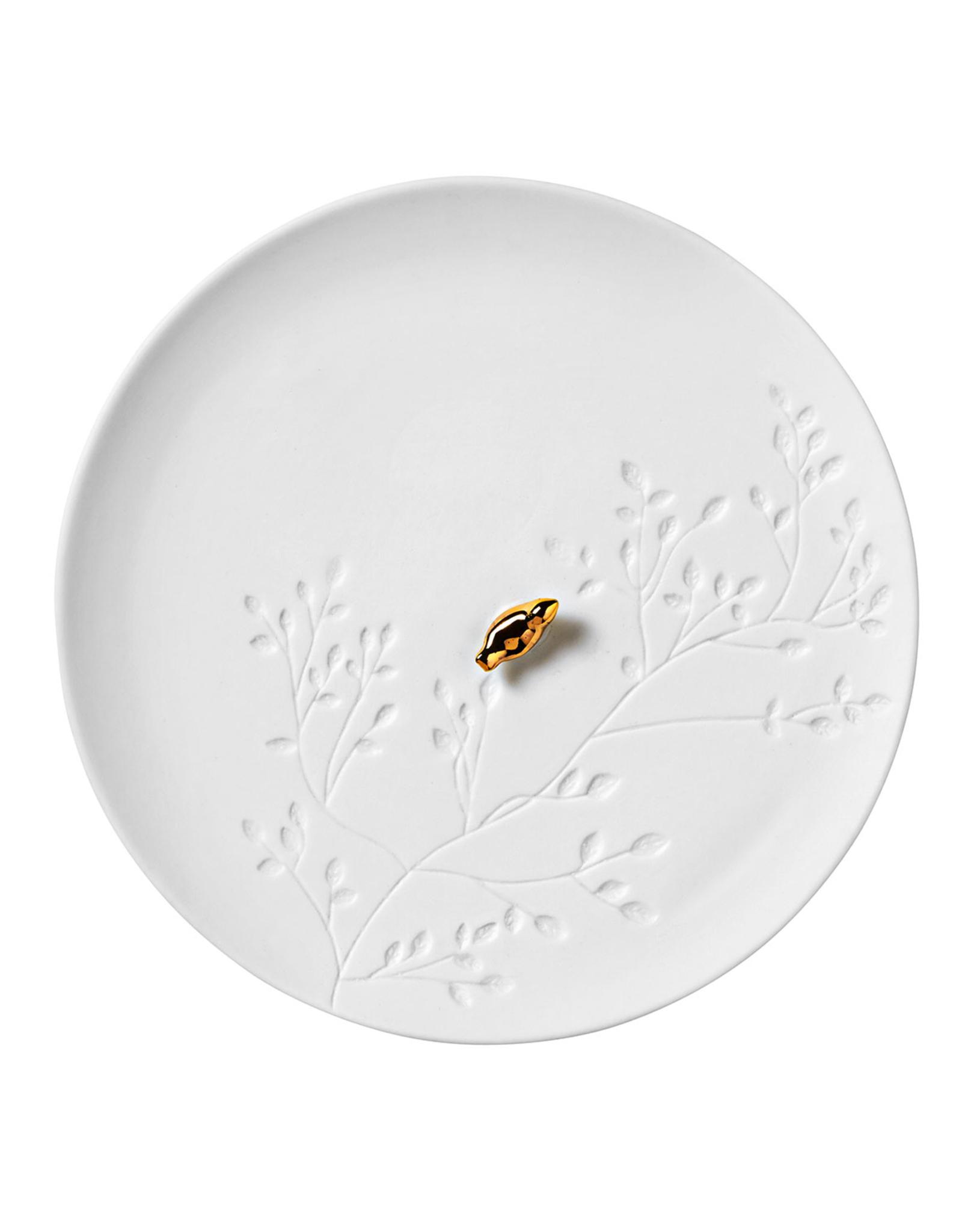 Räder Bordje met Gouden Vogeltje Porcelain Story - Räder