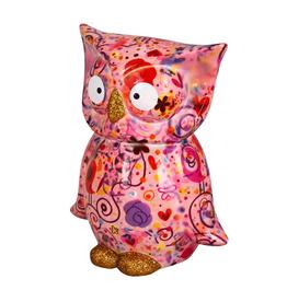 """Pomme-Pidou Spaarpot Uil """"Bo"""" L roze multicolor - Pomme-Pidou"""