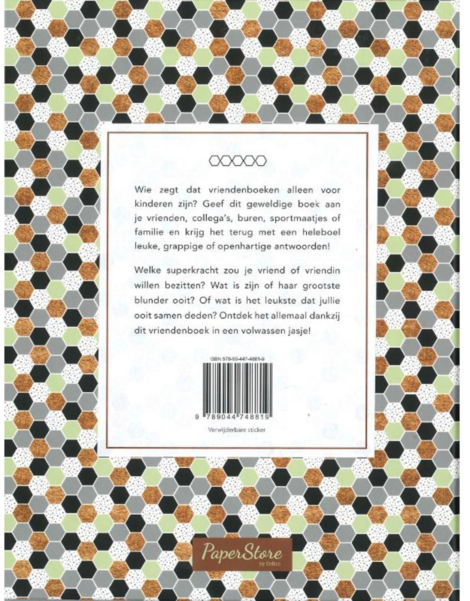 """Het Geweldige Vriendenboek voor Volwassenen """"zwart/groen"""" - Deltas"""