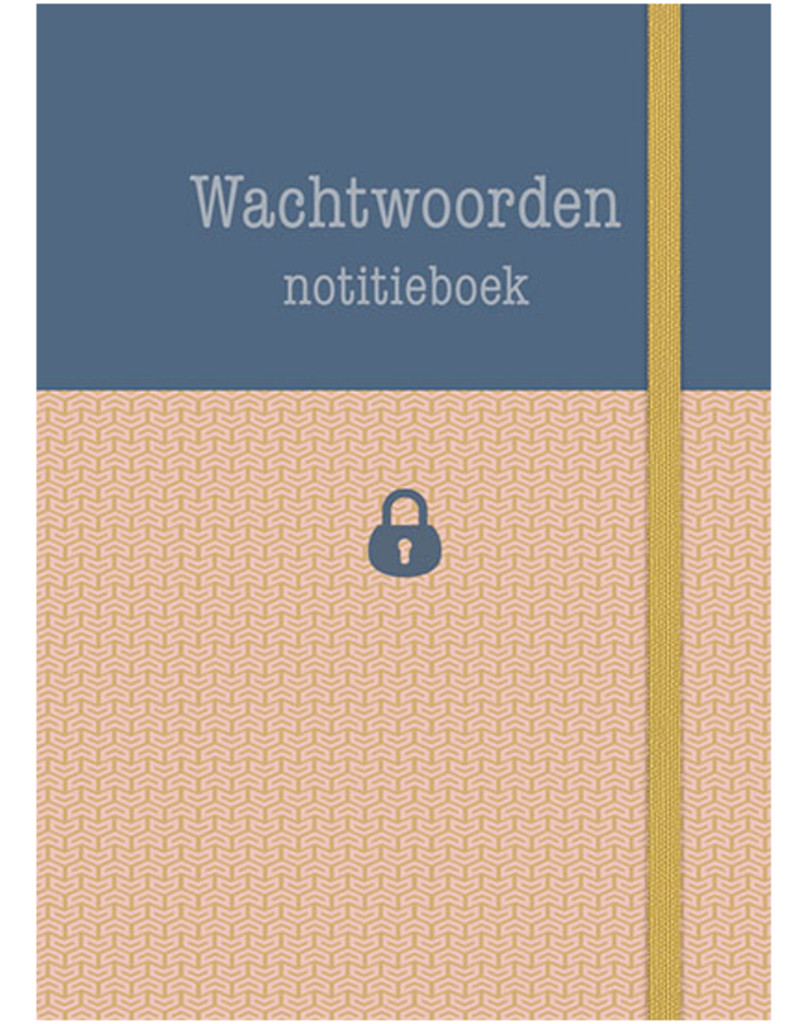 Wachtwoorden Notitieboek roze - Deltas