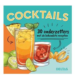 Cocktails - 30 onderzetters met de bekendste recepten