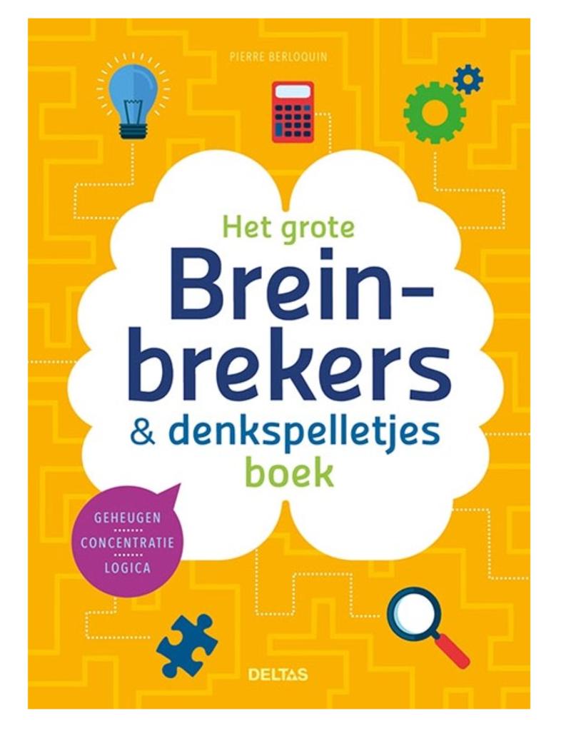Het Grote Breinbrekers & Denkspelletjes Boek - Deltas