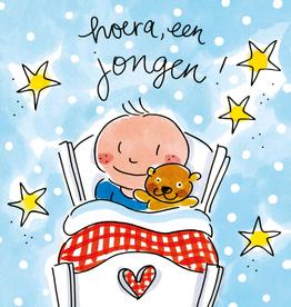 Blond Amsterdam hoera, een Jongen! - Wenskaart Blond Amsterdam