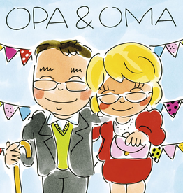 Blond Amsterdam Opa & Oma - Wenskaart Blond Amsterdam