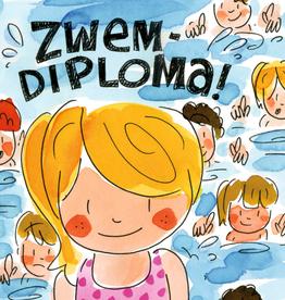 Blond Amsterdam Zwemdiploma! - Wenskaart Blond Amsterdam