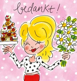 Blond Amsterdam Bedankt - Wenskaart Blond Amsterdam