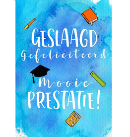 Geslaagd Gefeliciteerd Mooie Prestatie! - Wenskaart