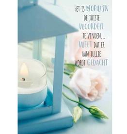 Het is Moeilijk de Juiste Woorden te Vinden - Wenskaart Compassion