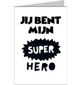 Jij bent mijn super hero - Wenskaart Marshmallow