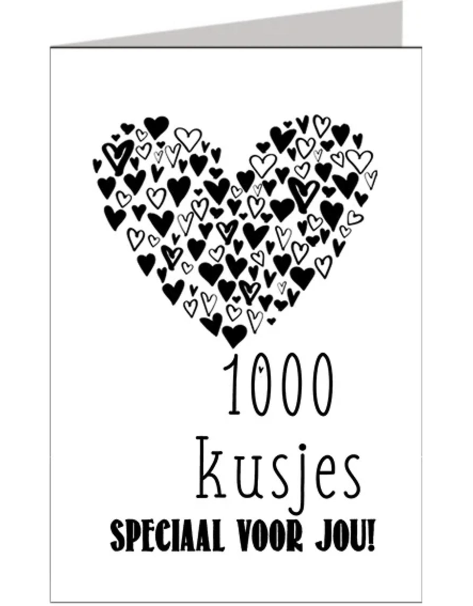 1000 kusjes speciaal voor jou - Wenskaart Marshmallow