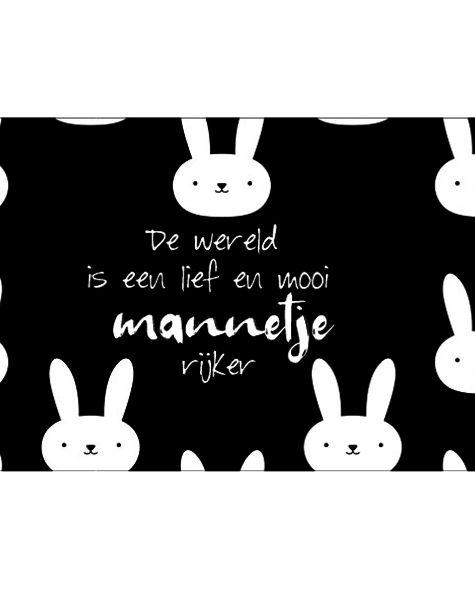De wereld is een lief en mooi mannetje rijker - Wenskaart Marshmallow