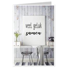Wenskaart Veel Geluk Samen - Casa Collection