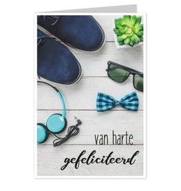 Wenskaart Van Harte Gefeliciteerd - Casa Collection