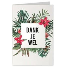 Wenskaart Dank je Wel - Casa Collection