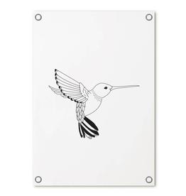 Zoedt Tuinposter met kolibrie - Zoedt