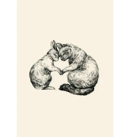 Perfectly Cat and Rabbit (Blanco) - Roger la Borde