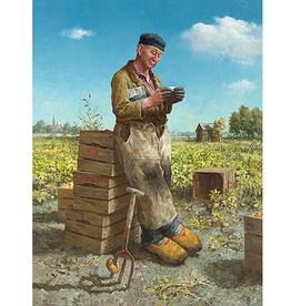 De Aardappelsteker - Wenskaart Marius van Dokkum